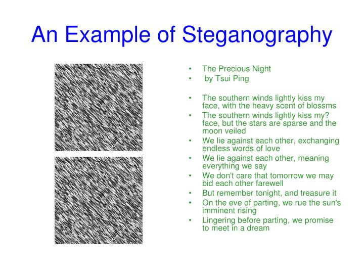 An Example of Steganography