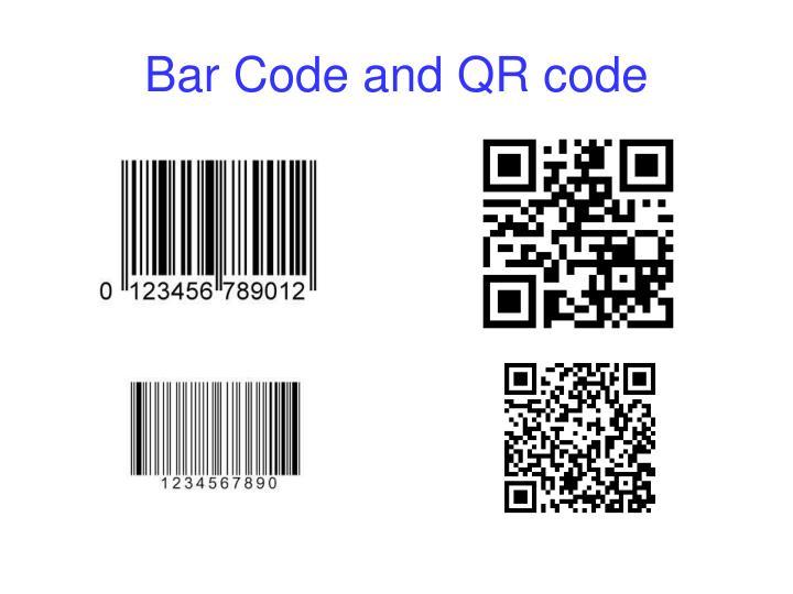 Bar Code and QR code