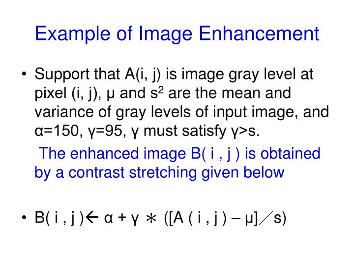 Example of Image Enhancement