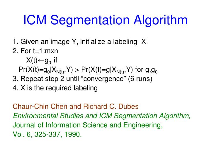 ICM Segmentation Algorithm