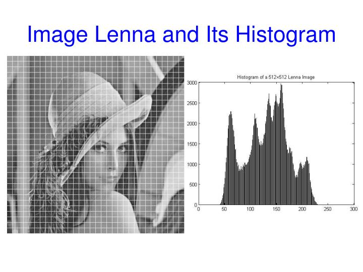 Image Lenna and Its Histogram