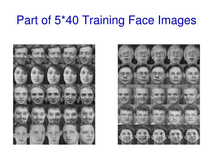 Part of 5*40 Training Face Images