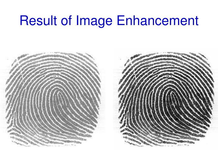 Result of Image Enhancement