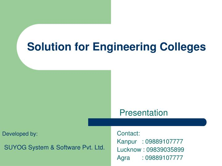 solution for engineering colleges n.