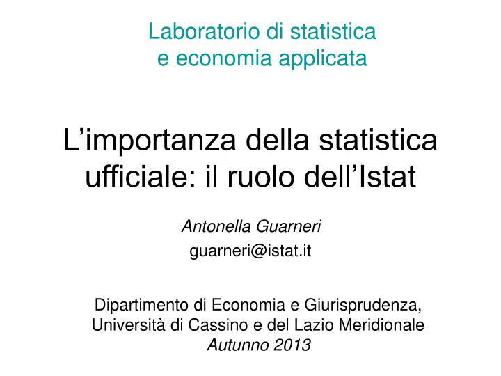 Antonella guarneri guarneri@istat it
