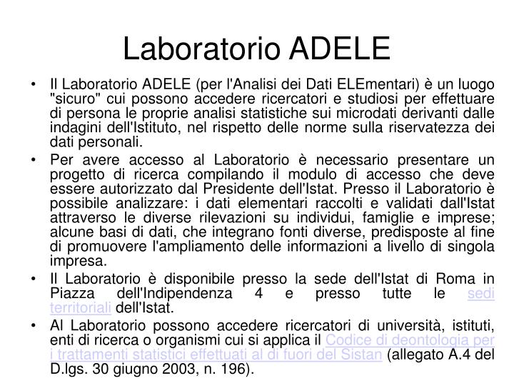 Laboratorio ADELE