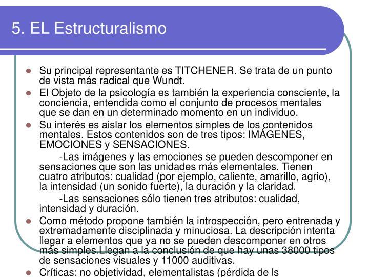 5. EL Estructuralismo