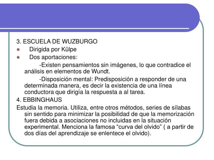3. ESCUELA DE WUZBURGO