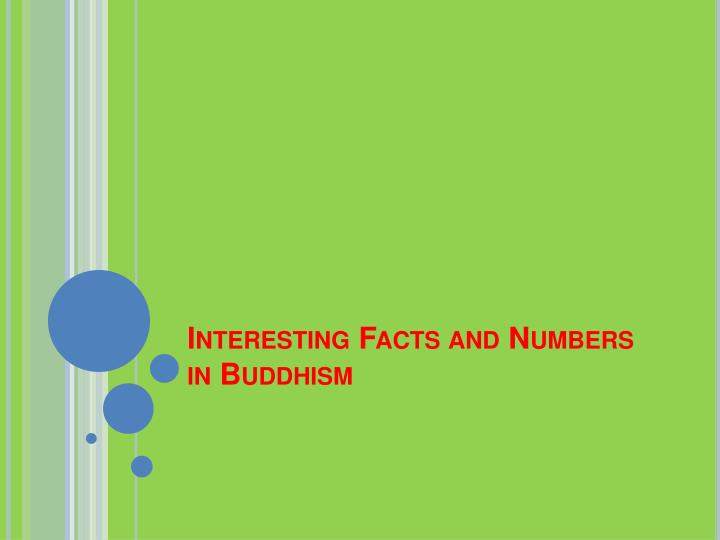 interesting facts and numbers in buddhism n.