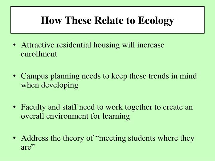 How These Relate to Ecology