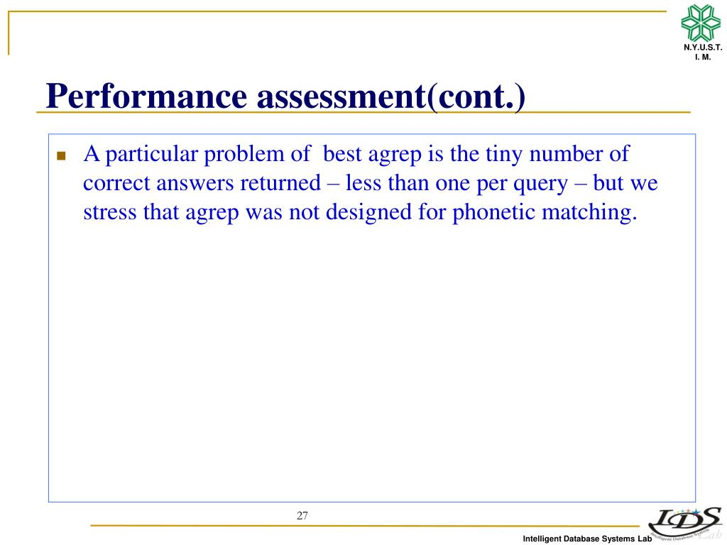PPT - Phonetic String Matching:Lessons from Information Retrieval