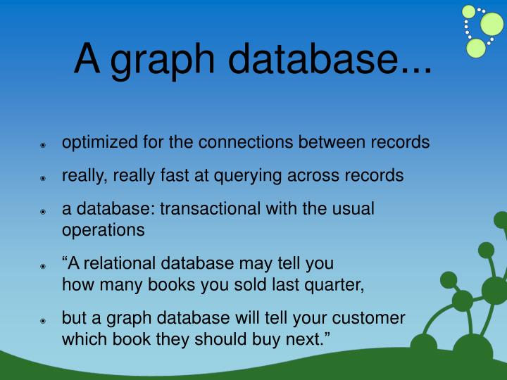 A graph database...