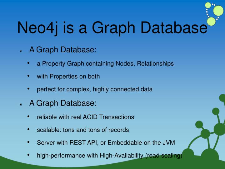 Neo4j is a Graph Database