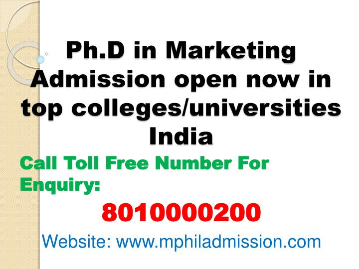 ph d in marketing admission open now in top colleges universities india n.