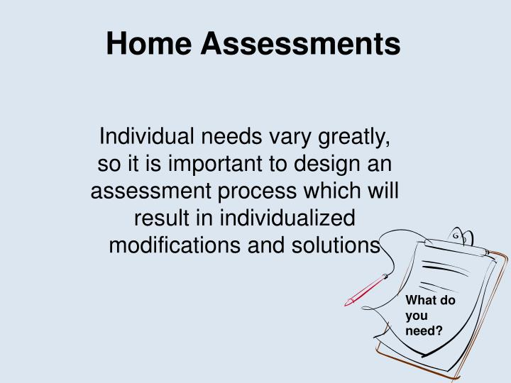 Home Assessments