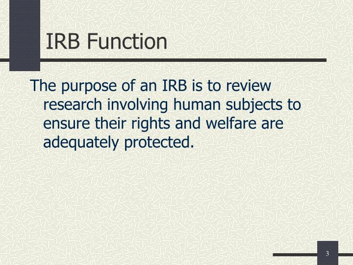 Irb function
