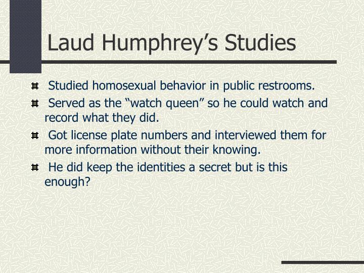 Laud Humphrey's Studies