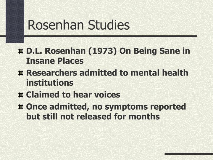 Rosenhan Studies