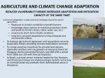 agriculture and climate change adaptation