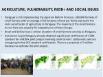 agriculture vulnerability redd and social issues