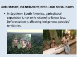 agriculture vulnerability redd and social issues1