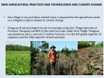 new agricultural practices and technologies and climate change