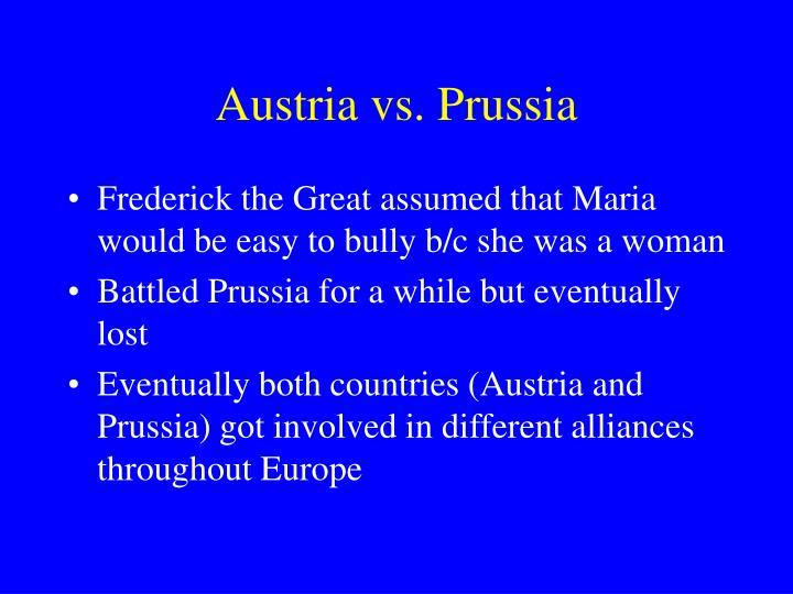 Austria vs. Prussia