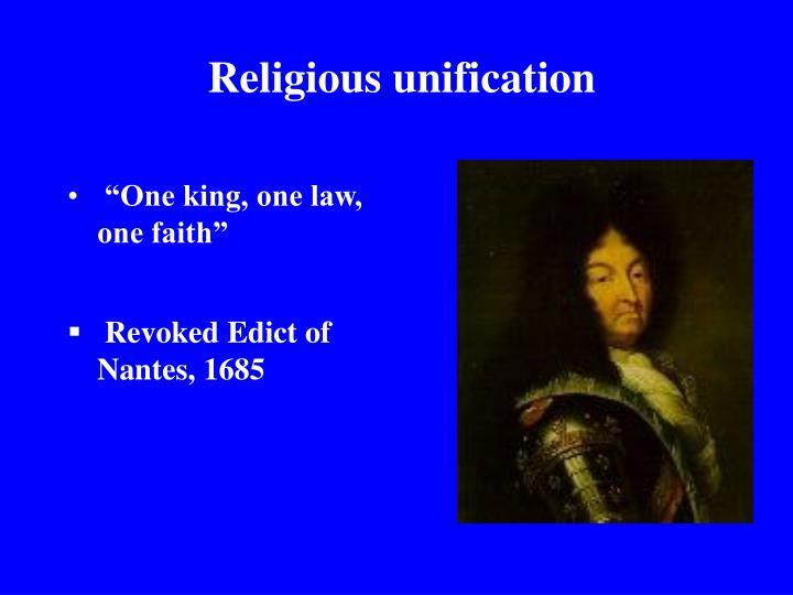Religious unification