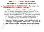 what key lessons can we learn from paul s example in this story6