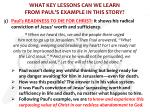 what key lessons can we learn from paul s example in this story7