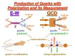 production of quarks with polarization and its measurement