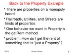 back to the property example