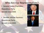 who are our representatives