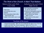 the work of the church a mark that matters15