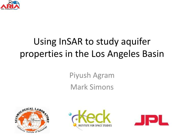using insar to study aquifer properties in the los angeles basin n.