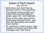 impact of paul s speech acts 13 42 43