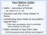 paul before gallio acts 18 12 151