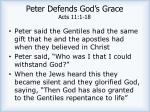 peter defends god s grace acts 11 1 181