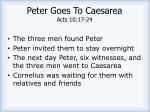 peter goes to caesarea acts 10 17 24