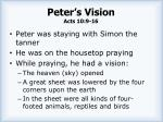 peter s vision acts 10 9 16