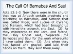 the call of barnabas and saul