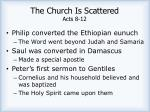 the church is scattered acts 8 121