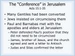 the conference in jerusalem acts 15 1 35