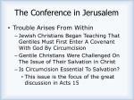 the conference in jerusalem
