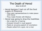 the death of herod acts 12 20 24