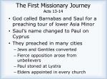 the first missionary journey acts 13 14