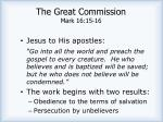 the great commission mark 16 15 16