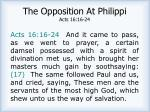 the opposition at philippi acts 16 16 24