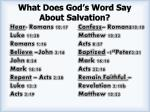 what does god s word say about salvation