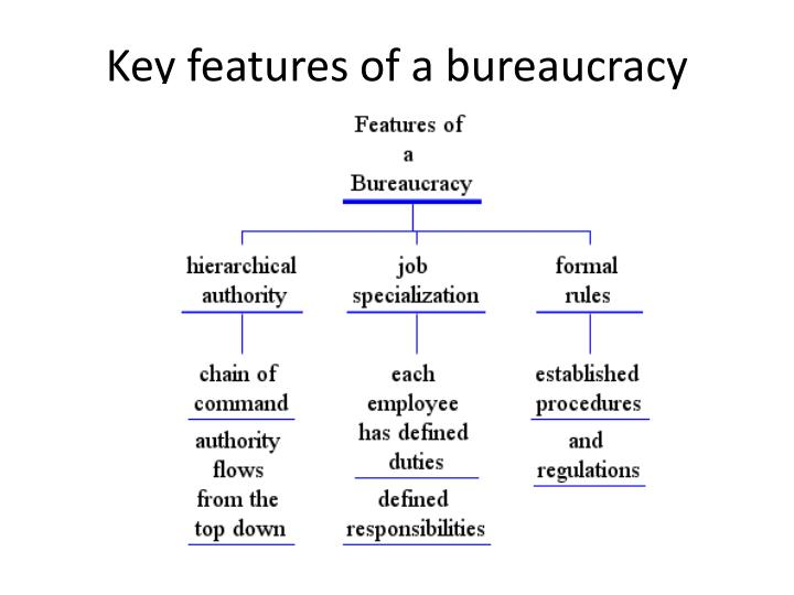 what are the features of bureaucracy